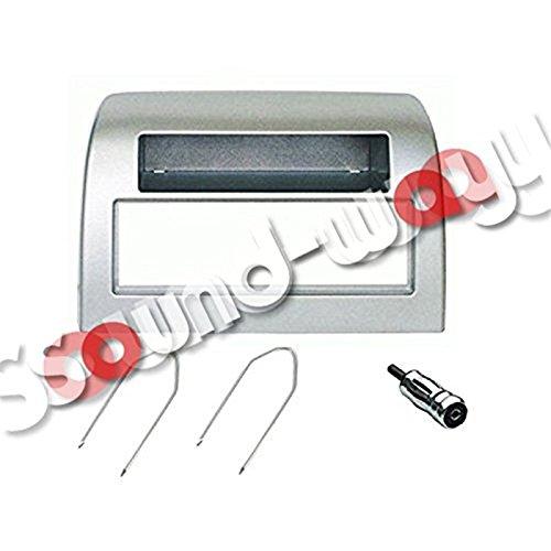 Sound-way Kit Montaggio Autoradio, Mascherina 1 DIN, Adattatore Antenna, Chiavi di Smontaggio, compatibile con Lancia Y Ypsilon 2006 al 2011