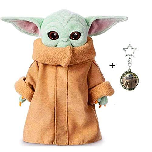 N/A Baby Yoda Plüsch Figur Spielzeug von The Mandalorian, 12in Das Kind Yoda Plüschtier Baby Yoda Stuffes Puppe Yoda Schlüsselbund