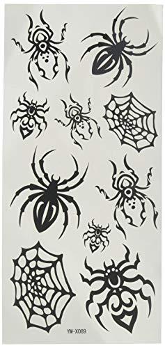YiMei étanches tatouages temporaires insectes araignée noire