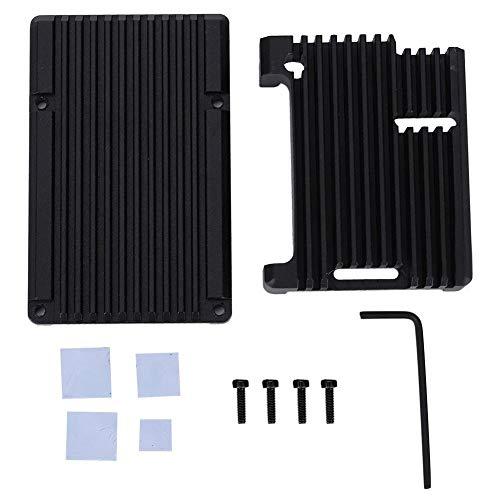 Raspberry Pi Carcasa Aleación de aluminio negra Rectangular RaspberryPi 3 Modelo B 2b/3b + Caja de la placa base sin ventilador