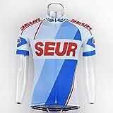NUEVOS Hombres S Ciclismo Jersey Estilo Retro Clásico del Verano Colección Ropa De Ciclo Superior De La Camisa Desgaste De La Bici Ciclismo Maillot Zzzb (Color : Style Photo, Size : M)