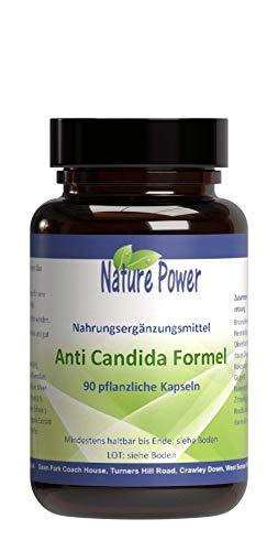 Anti Candida | Formel | von NATURE POWER | 100% natürlich | 90 pflanzliche Kapseln | gentechnikfrei | vegan