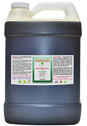 Black Cumin Oil - Black Seed Oil - Kalonji Oil Cold Pressed 1 GALLON Pure Natural Seed Oil Hair Beard Face Lips Pain Premium Grade