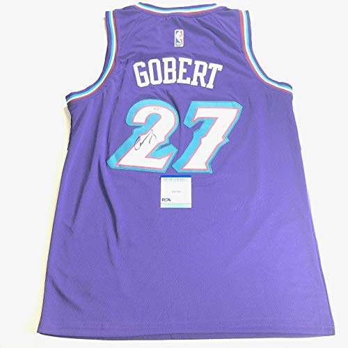 Autographed Rudy Gobert Jersey - Purple - PSA/DNA Certified - Autographed NBA Jerseys
