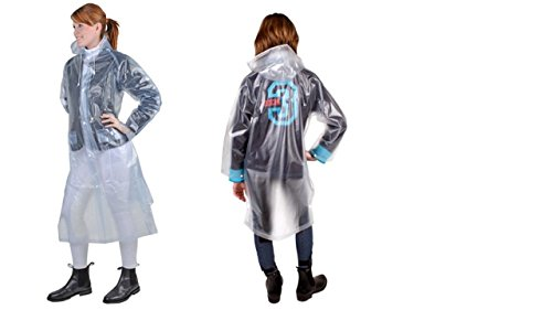 HKM 8243 Regenmantel, Reitregenmantel Seitenschlitz Unisex Kinder M