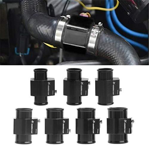 Bigsweety Wassertemperaturadapter Temperatursensor Adapter Aluminiumlegierung Dreiwegtemperaturanzeige Adapter (40mm)