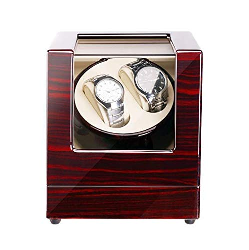 FACAIA Uhren Automatic Watch Winder Unisex-Uhrenbeweger aus Holz, Piano-Lack PU-Lederwickler, 5 Modi und Deluxe Super Leiser Silent Motor