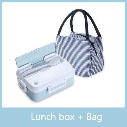 QWSAZX Magnetron lunchbox met bestek beker lekvrij draagbare voedsel container kantoor school wandelen camping gezondheid lunchbox