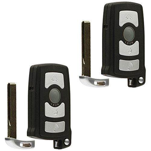 Car Key Fob Keyless Entry Remote fits BMW 7 Series 745i 750i 750Li 760i 760Li (LX8766S), Set of 2