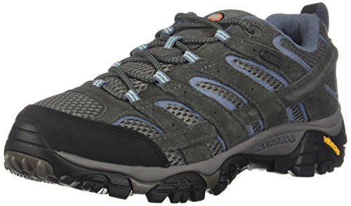 Merrell Women's Moab 2 Waterproof Hiking Shoe Granite 5.5