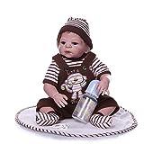 WW-ETWW 46 cm Volle Silikon-Simulations-Wiedergeburts-Puppenkinder pädagogische Aufklärung...