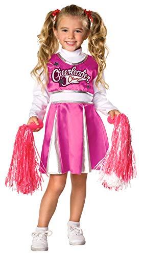 Rubie's Let' s Pretend Child's Cheerleader Champion Costume, Large, Pink/White
