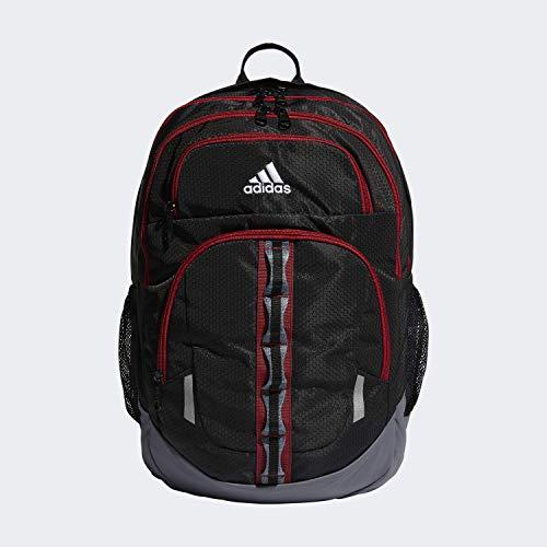 adidas Unisex Prime Backpack, Black/ Active Maroon/ Onix, ONE SIZE