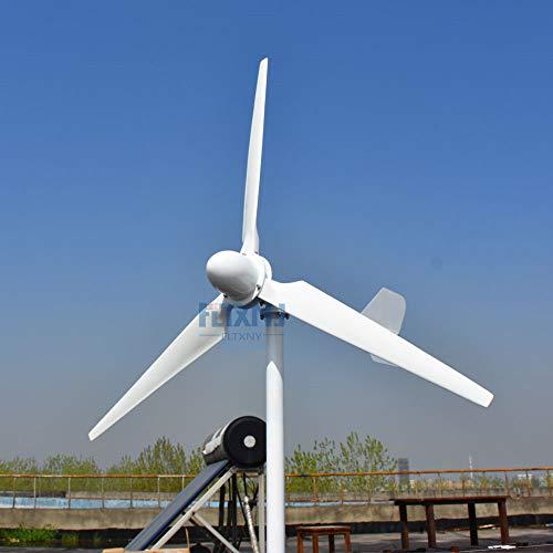 3000 W Turbina Eolica 48 V Aerogeneratore Uso domestico residenziale 3 KW Generatore di vento orizzontale con regolatore di carica solare di vento ibrido