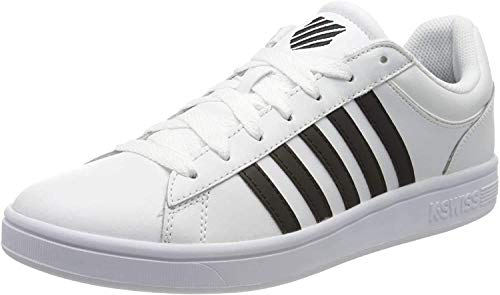 K-Swiss Herren Court Winston Sneaker, Weiß (White/Black 102), 44 EU