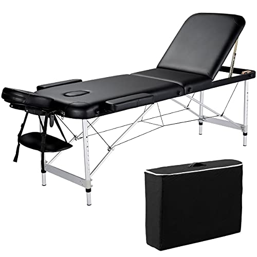 Yaheetech Folding Massage Table Portable Salon Couch Bed Professional...