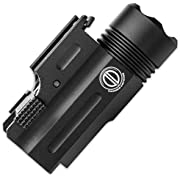 Dagger Defense -Combat Vet Owned Company- DD-SD01 Tactical Picatinny Rail Mounted Pistol Flashlight with 200 Lumens.