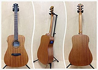 "Caraya Safair 36"" EQ All Mahogany Acoustic Guitar w/Built-in EQ,Tuner+Free Bag"
