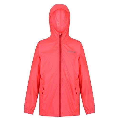 Regatta Ciré Technique et compactable Junior Pack-IT Jackets Waterproof Shell Mixte Enfant, Fiery Coral, FR : XL (Taille Fabricant : 9-10)