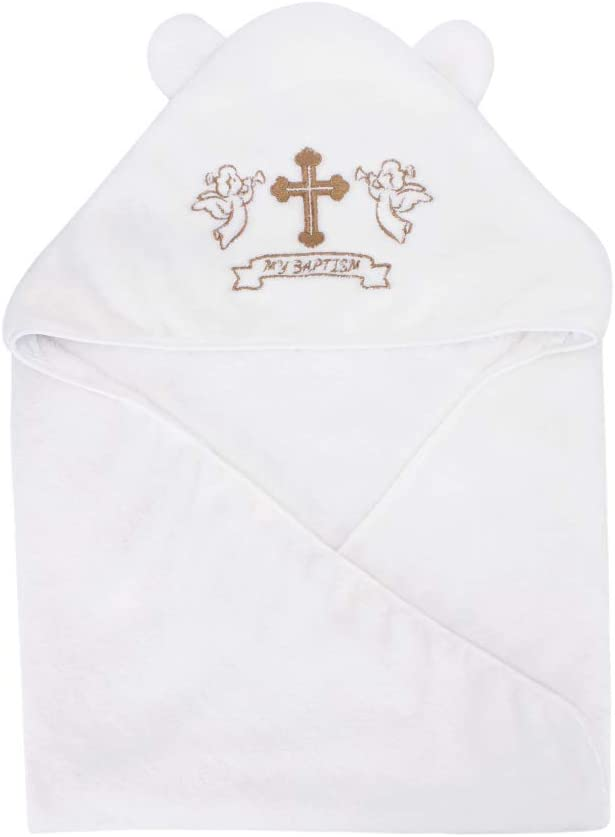 ESTAMICO Unisex Baby Plush Hooded Embroidery Chicago Mall Towels with Bath Cr Complete Free Shipping
