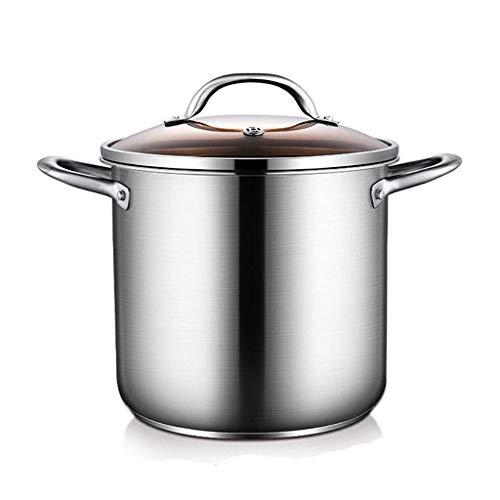 Pentola in Acciaio Inossidabile 304 pentola per zuppa Spessa di Grande capacità per Uso Domestico (5 7   9L) per pentola a Gas fornello a induzione (Dimensioni: 7L)