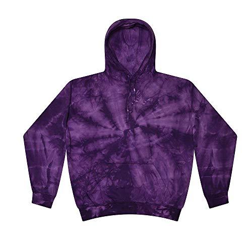 Colortone Tie Dye Hoodie Kids 2-4 (XSM) Spider Purple