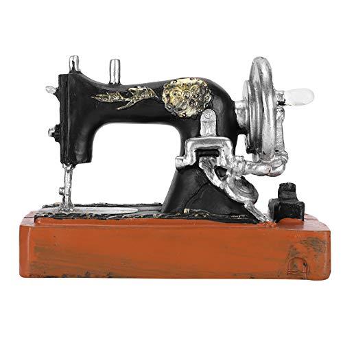 Fydun Mini máquina de Coser Vintage, Caja de música Retro con Mecanismo de Cuerda, decoración de Mesa de Regalo, decoración de Escritorio, Juguete, Regalo del Día de la Madre