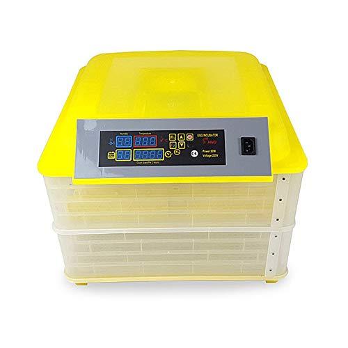 Inkubator, Vollautomatische 112 Eier Intelligentes Digital Brutmaschine Motorbrüter Hühner Mit LED Temperaturanzeige Und Feuchtigkeitsregulierung