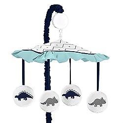 6. Sweet Jojo Designs Musical Baby Crib Mobile