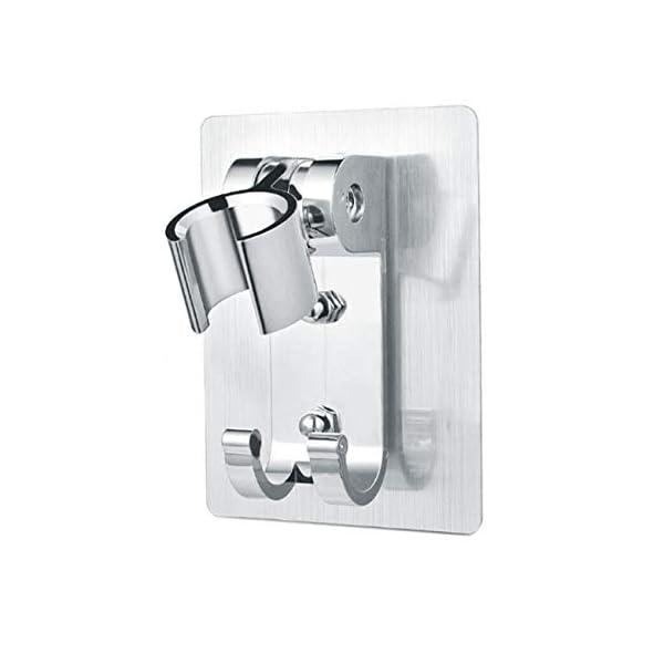 Soporte de ducha no perforante de aluminio Space, gancho de ducha con soporte mate/brillante, Estante con gancho para…