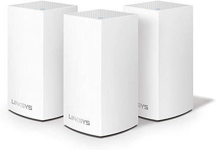 TALLA 3 Pack | 400 m² (max) | 3.6 Gbps. Linksys VLP0103 Velop sistema de mesh Wi-Fi para toda la casa (router/extensor WiFi AC1200, 400 m² de cobertura, controles parentales, 3 nodos, blanco)