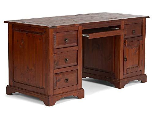 moebel-eins CESI Schreibtisch, Material Massivholz, Pinie braun
