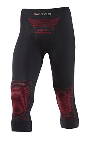 X-Bionic Pantalon Pirata MK2 Energizer Hombre Negro/Rojo