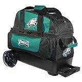 KR Strikeforce Bowling Bags Philadelphia Eagles 2 Ball Roller Bowling Bag, Multi