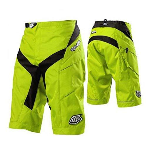 AIYL MTB Hose Herren Radhose, Mountainbike Hose Fahrradhose Herren Kurz, Outdoor Sport Herren Radlerhose MTB Bike Shorts Yellow-M