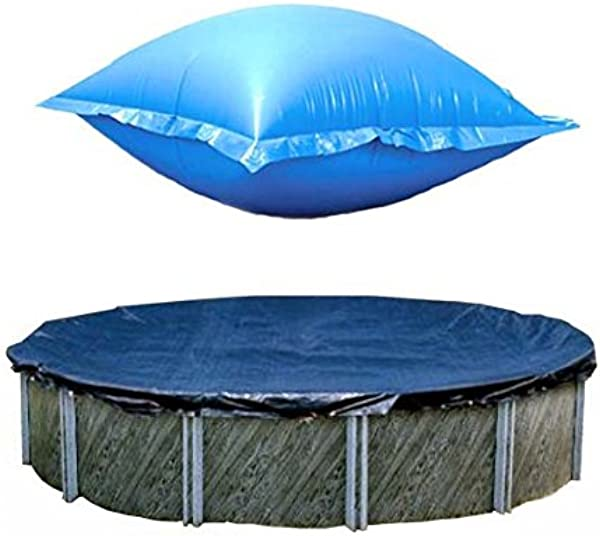 Swimline 24 Ft Round Above Ground Winter Pool Cover W 4 X8 Closing Air Pillow