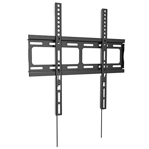 RICOO F0244, TV Wandhalterung Flach, Ultra-Slim Fix, Universal 26-55 Zoll LCD LED Bildschirm-Halter Fernseher-Halterung, bis max. 60Kg & VESA 400x400