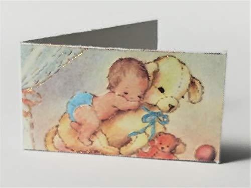 Cartotecnica Italiana 100 tarjetas de recuerdo para nacimiento, bautizo y niños, detalles gráficos de color dorado