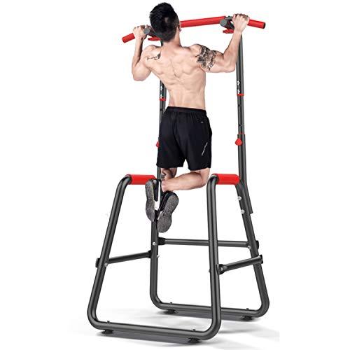 Fitness-Multifunktions-Kraftturm, Stehende Ganzkörper-Klimmzugstange, Kraftmuskeltraining Fitness-Training Für Das Heimbüro-Fitnessstudio Krafttraining (Schwarz)