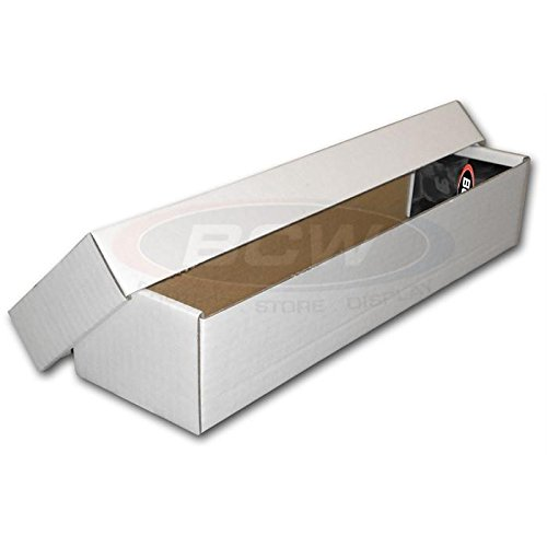 BCW 800 Count 2 Piece Box (Bundle of 25) Corrugated Cardboard Storage Box - Baseball, Football, Basketball, Hockey, Nascar, Sportscards, Gaming & Trading Cards Collecting Supplies