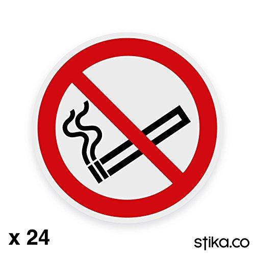 24-Pack 75mm No Smoking Sign Stickers op helder zelfklevend vinyl voor auto/van/taxi ramen