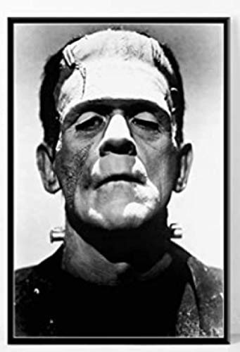 JCYMC Jigsaw Puzzles 1000 Pieces Assembling Picture Frankenstein 1931 Classic Horror Sci-Fi Movie Art Silk Deco For Adults Games Toys WQ84XZ