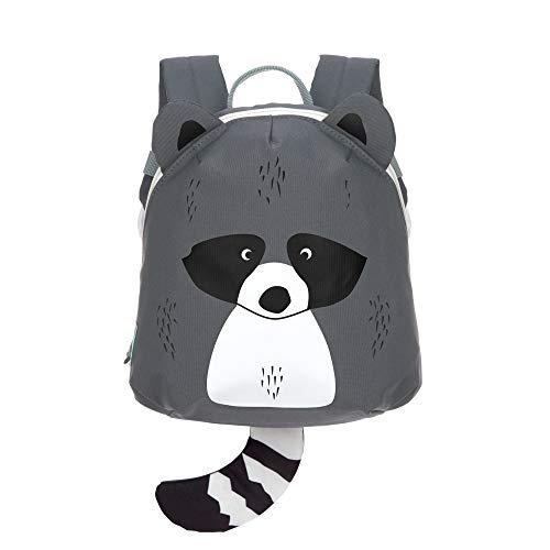 LÄSSIG Kleiner Kinderrucksack für Kita Kindertasche Krippenrucksack mit Brustgurt/Tiny Backpack, 20 x 9 x 24 cm, 3,5 L, Racoon