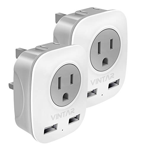 [2-Pack] UK Ireland Travel Plug Adapter, VINTAR International Power...