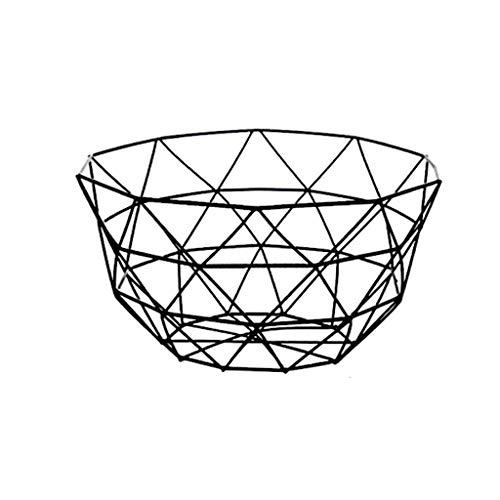 Yyqx Frutero creativo de alambre de metal de hierro, para frutas, encimera, cesta de almacenamiento para frutas, verduras, cesta de almacenamiento para cocina, encimera de frutas (color: B)
