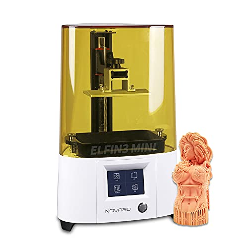 NOVA3D ELFIN3 Mini MSLA 3D Drucker Mono Screen, LCD Harz 3D-Drucker mit WLAN/WiFi, Resin Drucker für Anfänger, Druckgröße 120x68x150mm