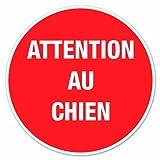 Chapuis DS13 Disque pvc adhésif D170 mm Attention au chien