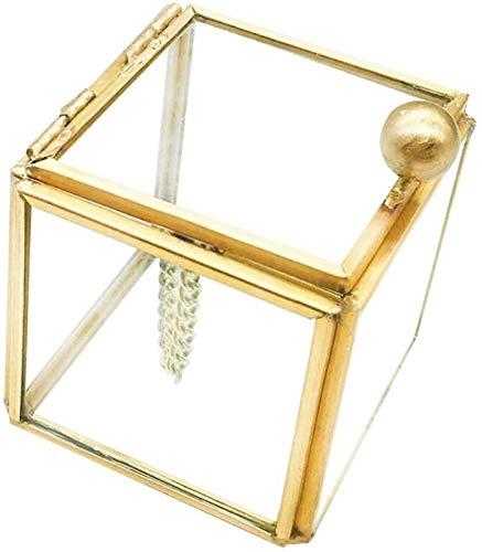 Schmuckkästen Aufbewahrungsbox Vintage Glas Box Armband Andenken Dekorative Ringe Armband Schmuck Display Organizer Blumenkasten