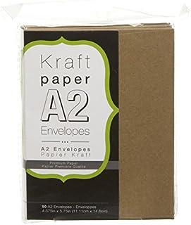 Darice Smooth A2 Sobres, Kraft, 4.375 x 5.75-Inch, 1
