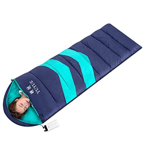 ruist-eu Warmer beheizter Schlafsack Faltbare Campingausrüstung Wasserdichter winddichter Beutel für Wanderungen